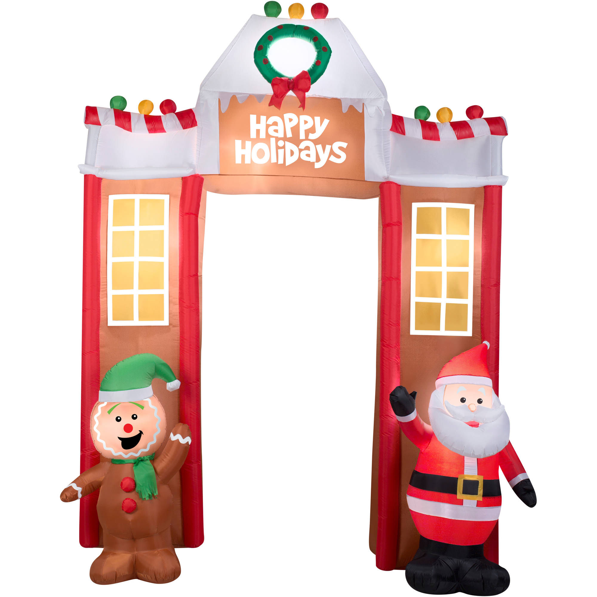 106 airblown inflatable gingerbread archway christmas inflatable walmart com - Christmas Inflatables At Walmart