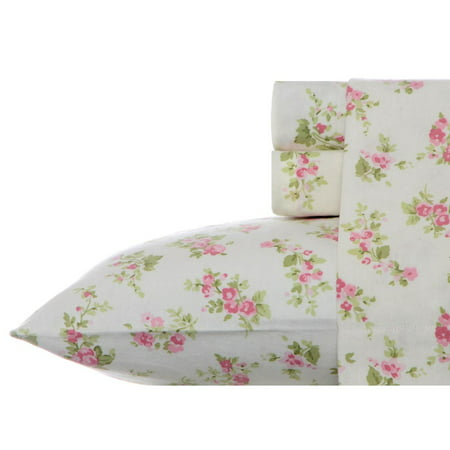 Laura Ashley Audrey 4PC Flannel Sheet