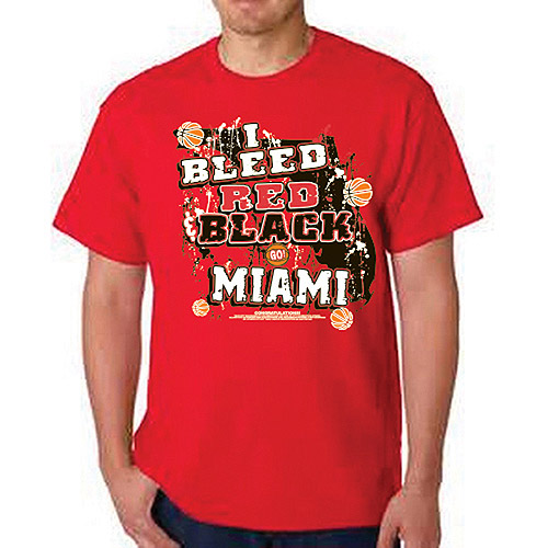 """Miami Heat """"i Bleed Red And Black - Go M"""