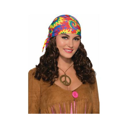 Hippie Adult With HeadscarfHalloween Costume Accessory Wig - Hippie Costumes