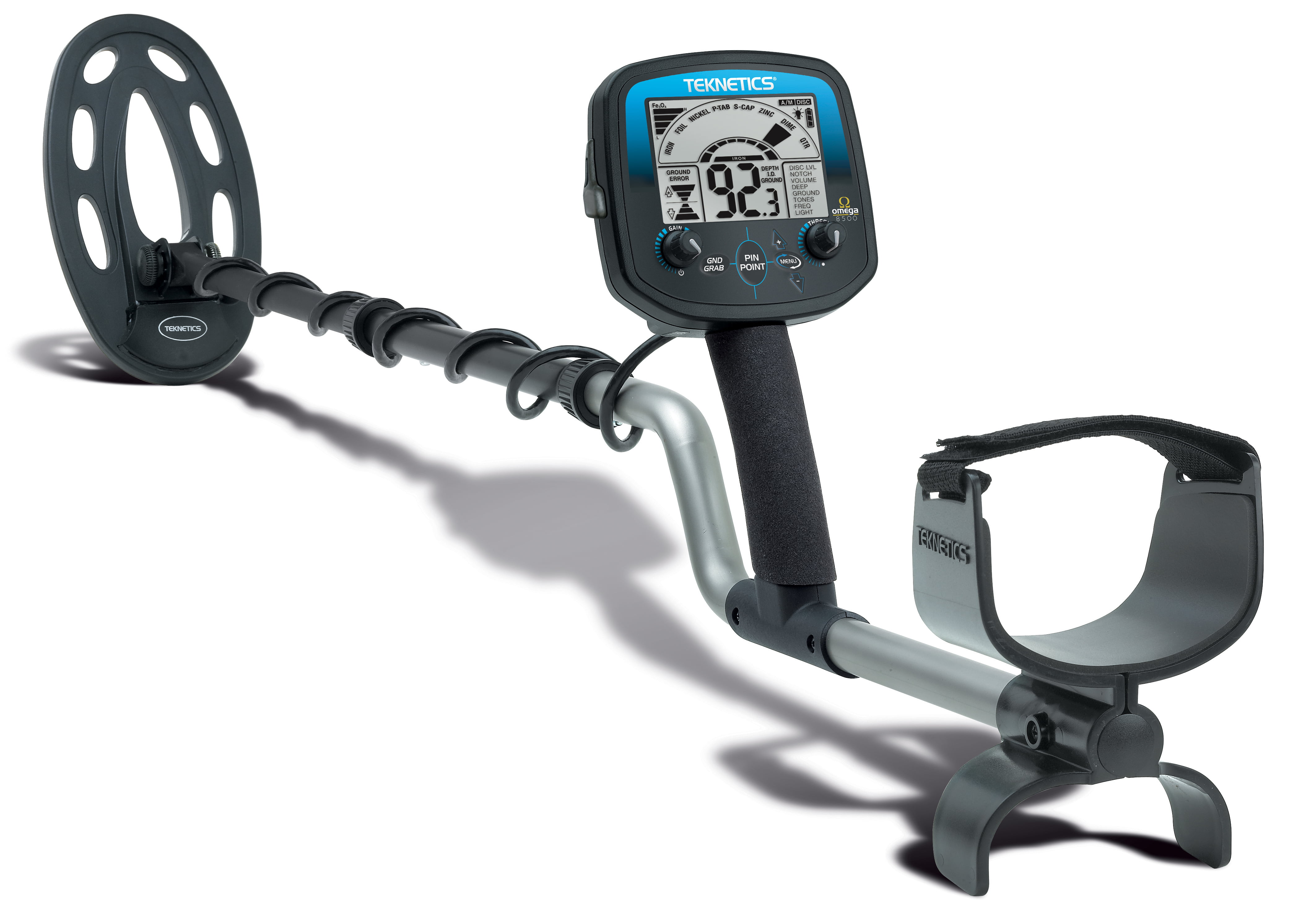 Teknetics Omega 8500 Metal Detector by First Texas Products