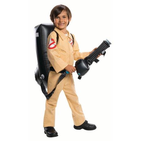 Deluxe Ghostbusters Costume (Rubies Ghostbuster Jumpsuit with Backpack Boys Halloween)