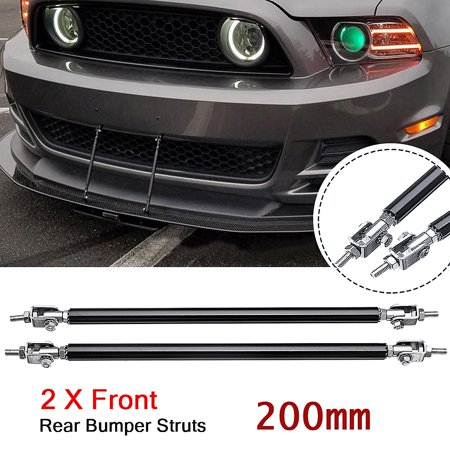 2x Universal 8''-13'' Adjustable Front Rear Bumper Lip Splitter Strut Rod Support Tie Bars