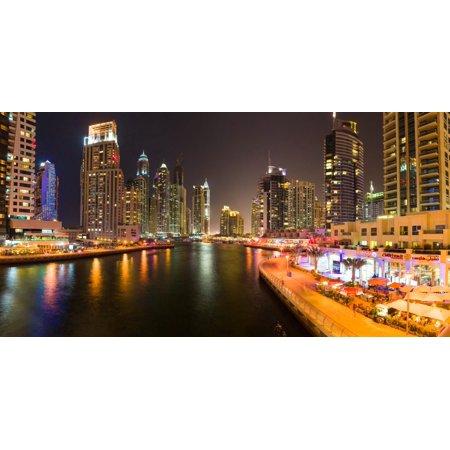 City at the waterfront Dubai Marina Dubai United Arab Emirates Poster Print by Panoramic Images - Party City Marina