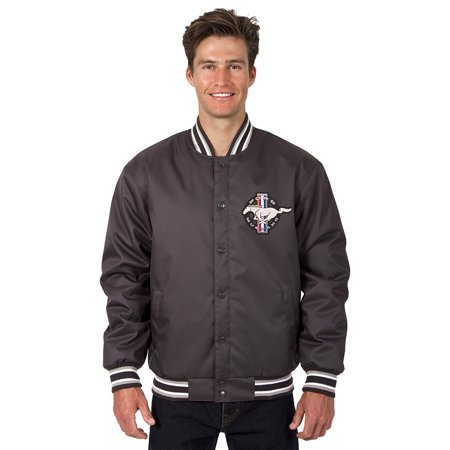 - Mens Ford Mustang Poly-Twill Jacket with Embroidered Emblems