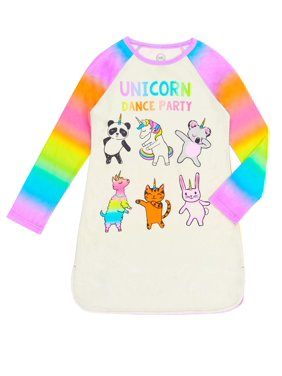 Wonder Nation Unicorn Dancing Night Gown (Little Girls & Big Girls)