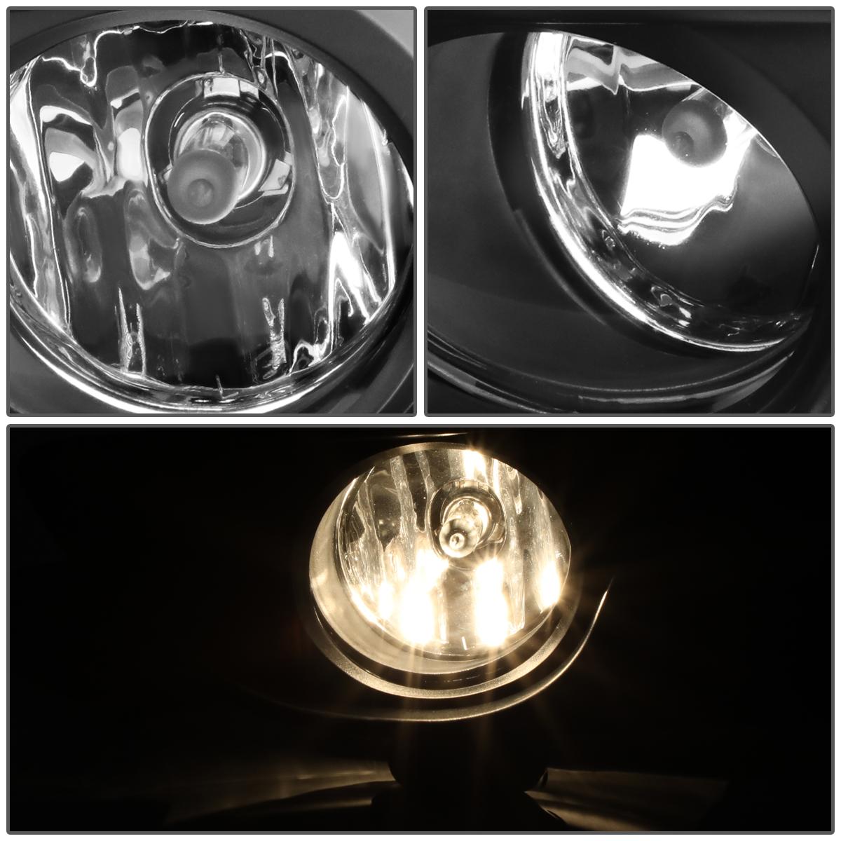 SMOKE LENS 12V FRONT BUMPER FOG LIGHT LAMPS+BULBS+BEZEL//COVER FOR 13-16 SENTRA