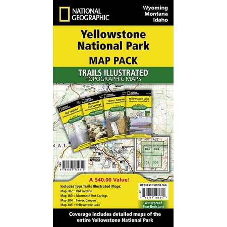 Yellowstone national park [map pack bundle] (other): 9781597754019
