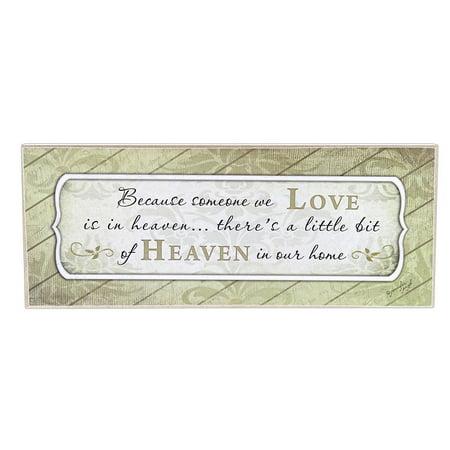 SOMEONE WE LOVE IN HEAVEN Memorial Wooden Block Sign, 10