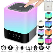 Portable Wireless Bluetooth 4.0 Speaker (Newest Version) - Big Sound Heavy Base, 48 Led Changing Color,Dimmable Warm Light Ni