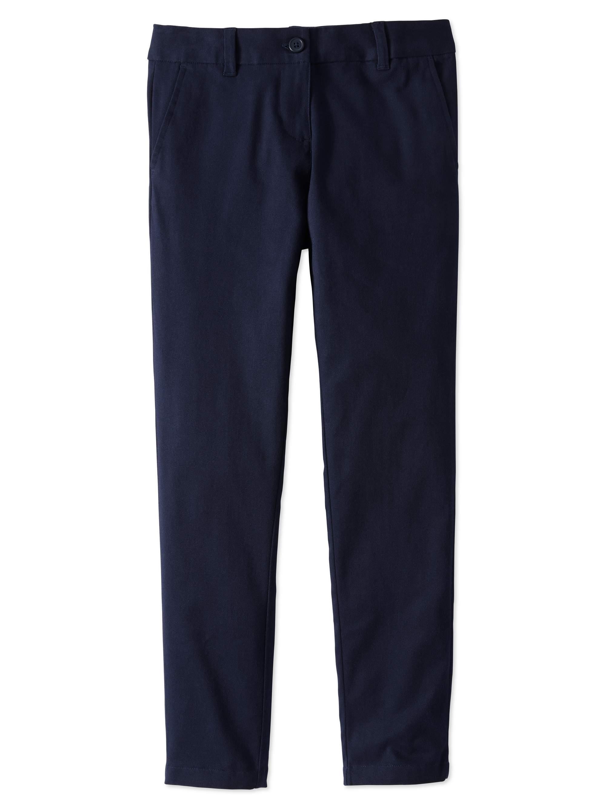 Girls Plus School Uniform Stretch Twill Skinny Pants
