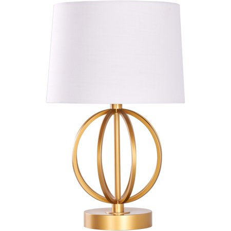 Mainstays Contemporary Copper Finish Metal Desk Lamp with Shade