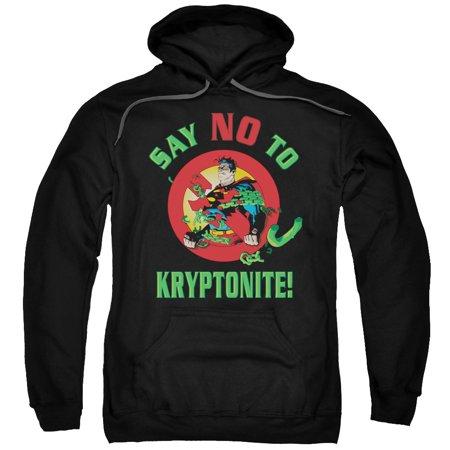 Superman Say No To Kryptonite Mens Pullover Hoodie - Kryptonite For Sale
