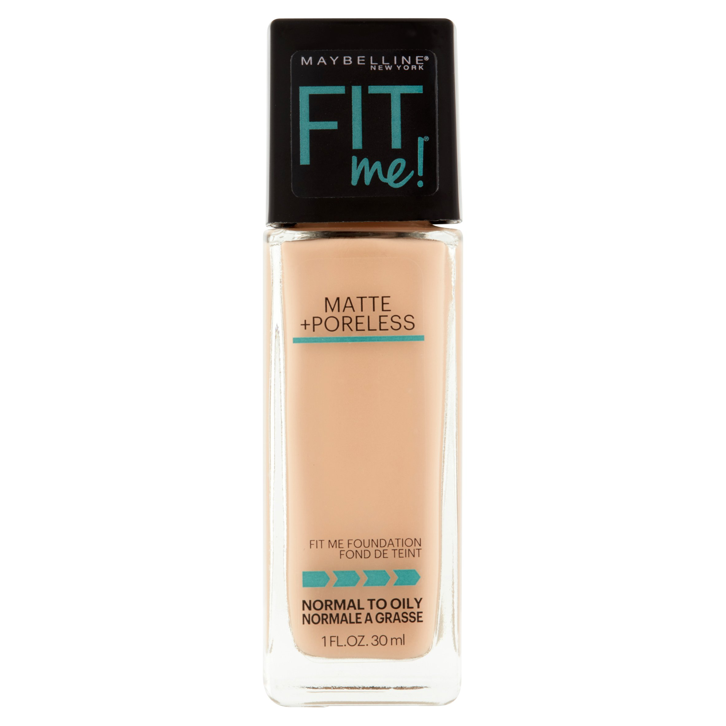 Maybelline New York Fit Me Matte + Poreless Foundation, 120 Classic Ivory, 1.0 fl oz