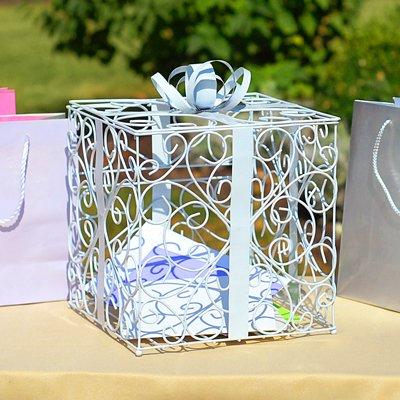 RaeBella Weddings WHITE Reception Gift Card Holder Box, RaeBella