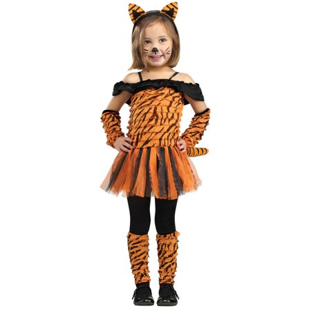 Girls Tiger Halloween Costume - Tigress Costume 4-6](Tiger Halloween Costume Baby)