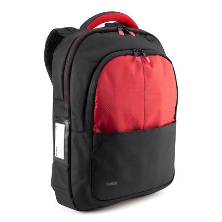Belkin / Linksys - B2B077-C02 - Belkin Carrying Case (Backpack) for 13 Notebook - Black, Red - Shoulder (Best Looking Laptop Backpack)