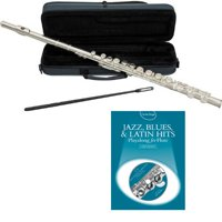 Jazz Blues & Latin Hits Flute Pack - Includes Flute w/Case & Accessories & Jazz Blues & Latin Hits Play Along Book