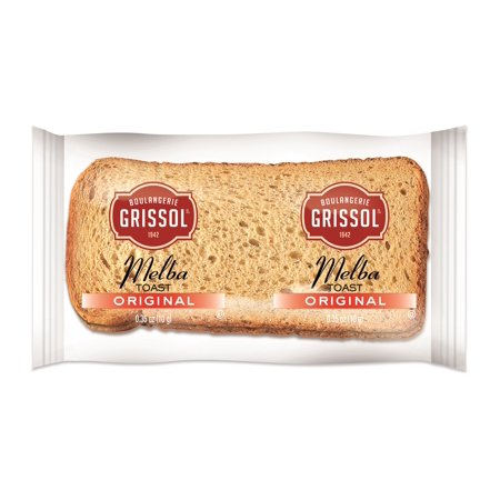 Rebels Snack - Boulangerie Grissol, Classic Melba Toast, 2 0.35oz. Pieces (320count)
