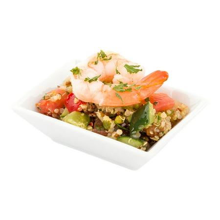 Mini Porcelain Dish - Rectangular Appetizer Dish, Rectangular Dessert Dish - 8.84 Inches - White - 10ct Box