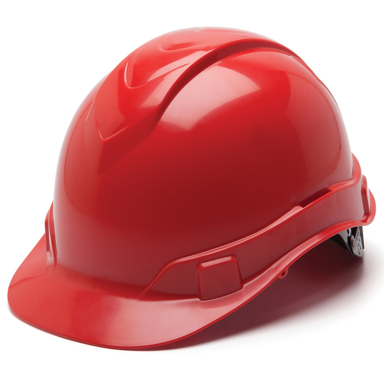 Pyramex Red Ridgeline Cap Style Hard Hat, 6pt Ratchet Susp