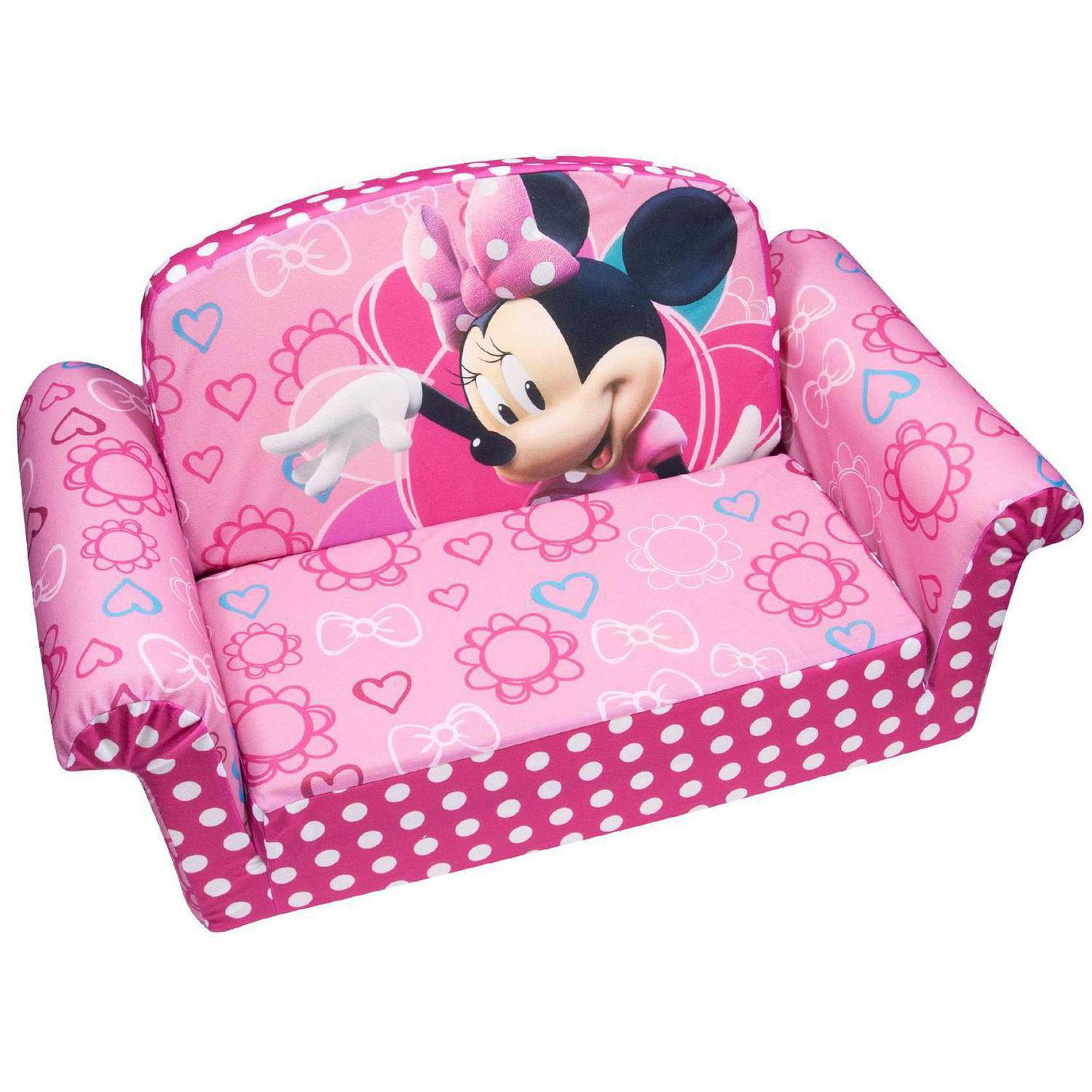 Marshmallow 2-in-1 Flip Open Sofa, Disney Minnie's Bow-tique