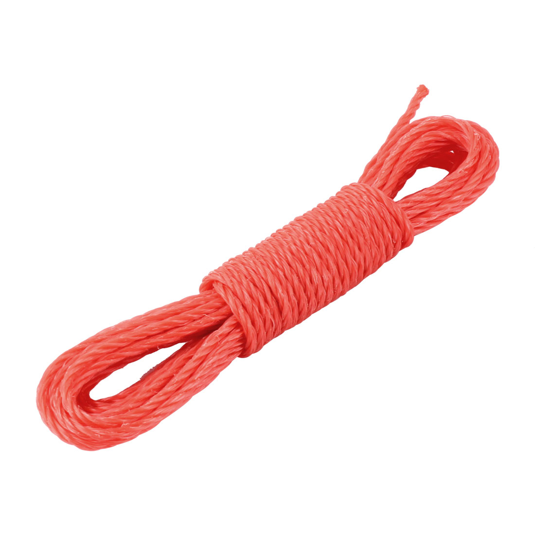 Household Outdoor Nylon String Clothes Line Clothesline Orange Red 5m Length