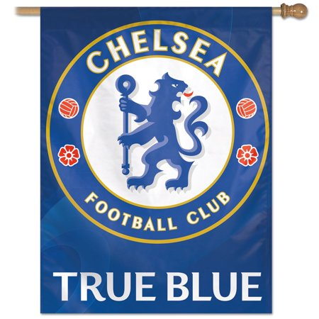 - Chelsea FC Official PREMIER LEAGUE 27 inch  x 37 inch  Veritcal Banner Flag by WinCraft