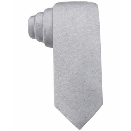 Ryan Seacrest NEW Gray Men's One Size Napa Tonal Dot Silk Neck Tie Tonal Silk Necktie