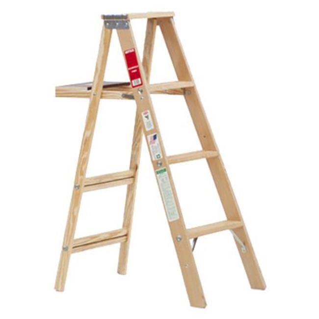Michigan Ladder 240133 4 ft. Type 3 Wood Step Ladder, Silk