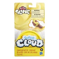 Play-Doh Super Cloud Single Can of Yellow Fluffy Slime Compound