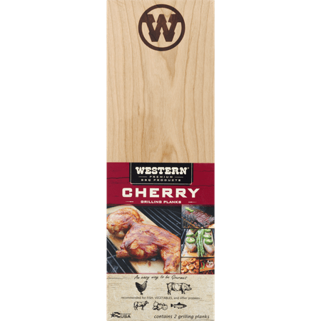 Western Premium BBQ Products Cherry Grilling Planks 2pk