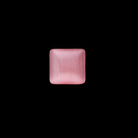 Beads Supplies 30pcs Square Pink Cat's Eye Glass Cabochons 8x8mm