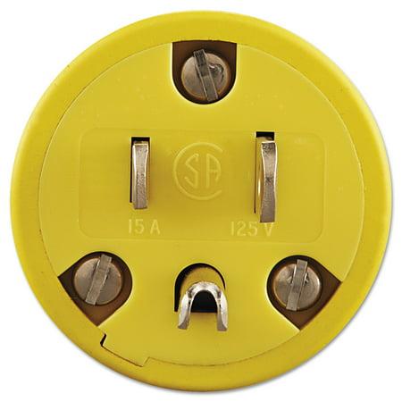 Daniel Woodhead Super-Safeway Male-End Replacement Plug, NEMA 5 15, Rubber, -