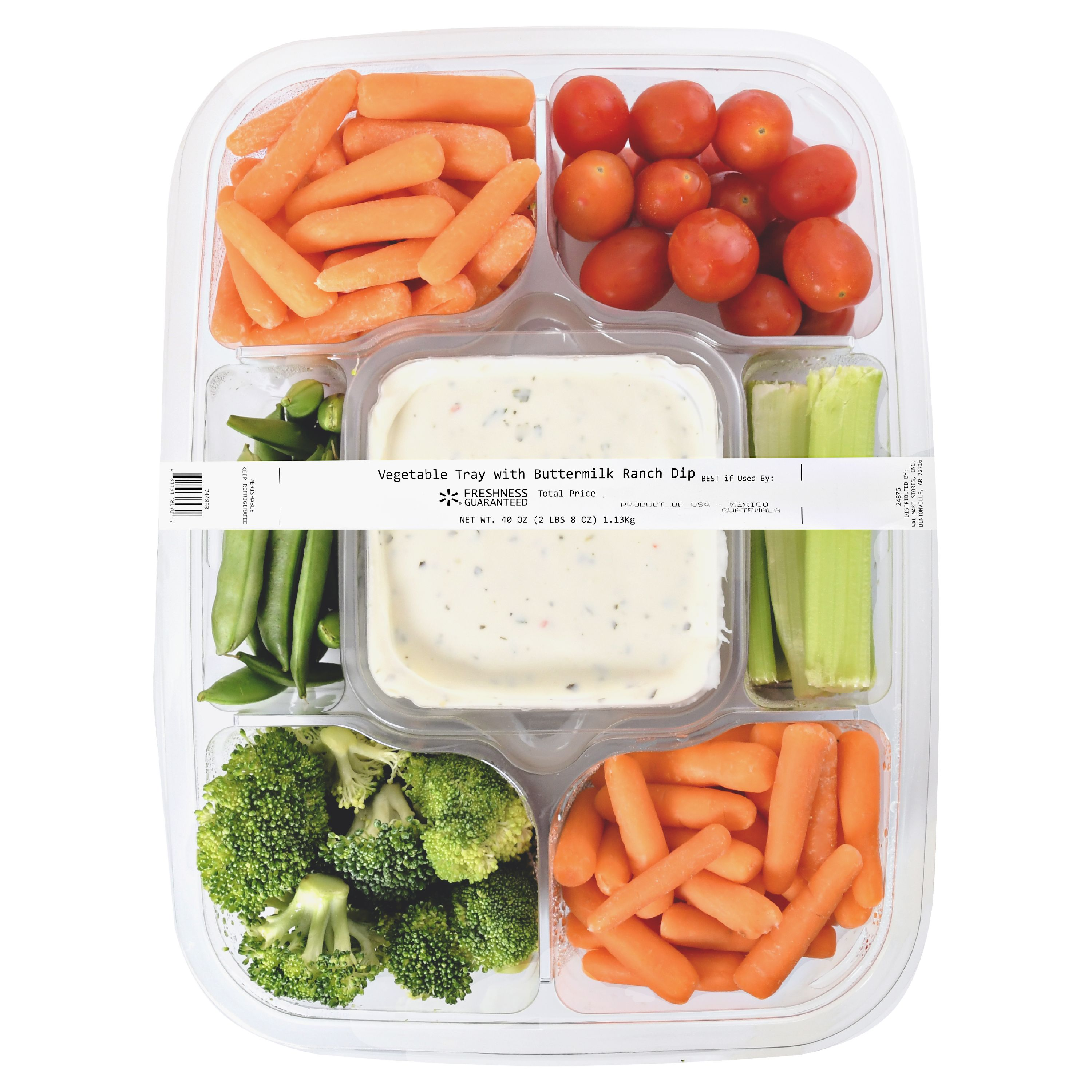 Vegetable Tray With Buttermilk Ranch Dip 40 Oz