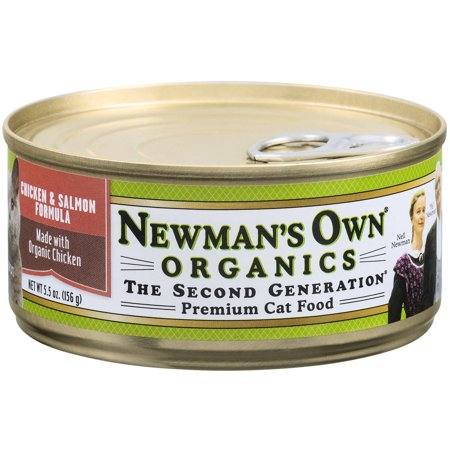 Newman's Own Cat Food, Premium, Chicken and Salmon Formula, 5.5 oz, 24-Pack (Newman Own Cat Food)
