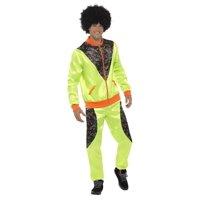 "47.5"" Neon Green and Black 1980's Retro Shell Men Adult Halloween Costume - Medium"