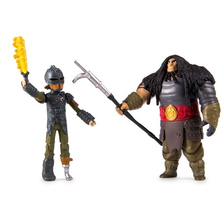DreamWorks Dragons: How to Train Your Dragon 2 Viking Warrior 2-Pack, Hiccup vs. Drago (Dragon Pick)