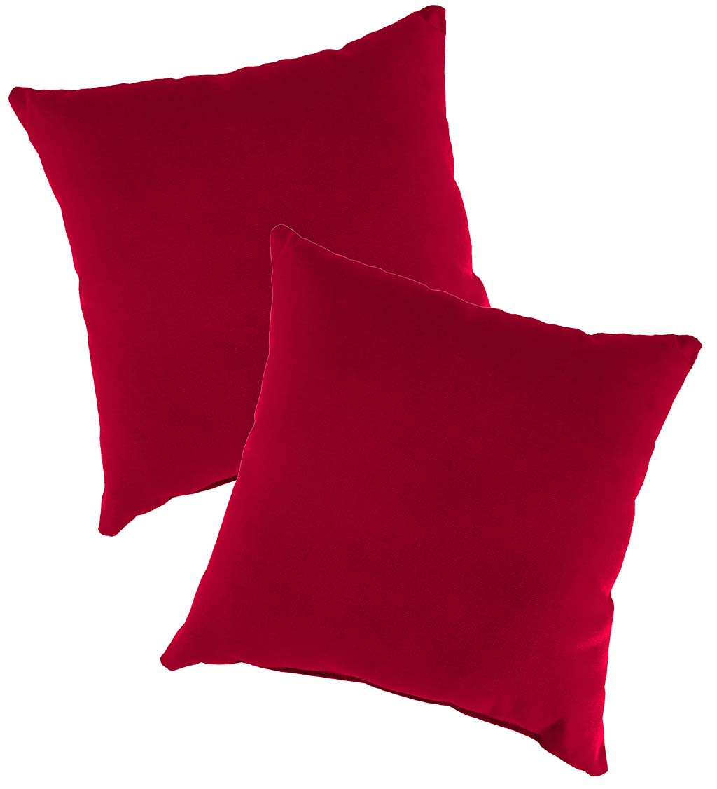 Set of Two Outdoor Pillows For Rope Hammock Swing