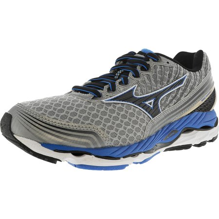 Mizuno Men's Wave Paradox 2 Grey / Black Blue Low Top Fabric Running Shoe - 7.5M