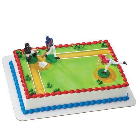 Baseball Player Cake Decorations Party Accessory