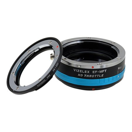 Vizelex Nd Throttle Lens Mount Adapter   Olympus Zuiko  Om  35Mm Slr Lens To Micro Four Thirds  Mft  M4 3  Mount Mirrorless Camera Body  With Built In Variable Nd Filter  1 To 8 Stops