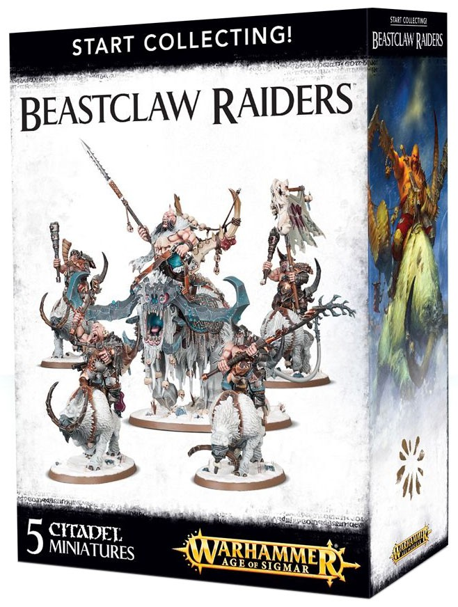 Warhammer Age of Sigmar Grand Alliance Destruction Start Collecting!Beastclaw Raiders Miniatures by