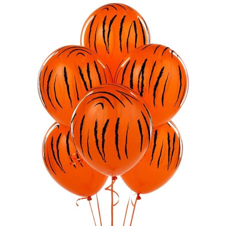 Jungle Themed Balloon Decorations (Jungle Tiger Stripes Latex Balloons)
