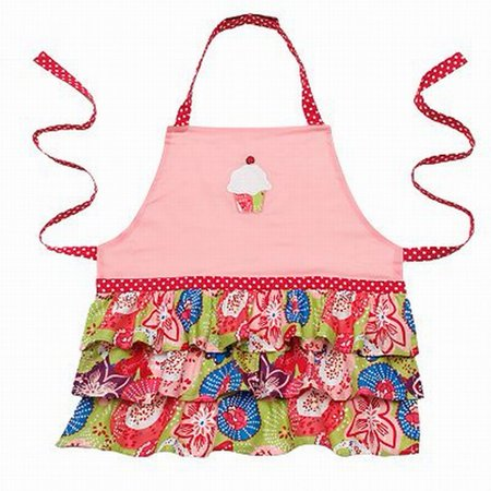 St Nicholas Square Holiday Childs Apron Frilly Confetti Bib Style