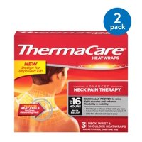 (2 Pack) ThermaCare Advanced Neck Pain Therapy (3 Count) Heatwraps, Up to 16 Hours Pain Relief, Neck, Wrist, Shoulder Use, Temporary Relief of Muscular, Joint Pains