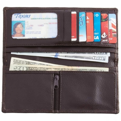 Embassy Chocolate Brown Solid Genuine Lambskin Leather Wallet