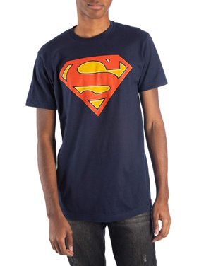 Men's and Big Men's Superman Dc Comics Glow In the Dark Logo Graphic T-shirt