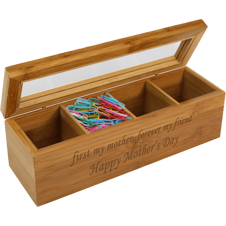 Personalized Mother's Wood Storage Box