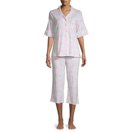 Floral-Print 2-Piece Cotton Blend Pajama Set ()